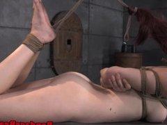 Roped up Ashley Lane bondage femdom