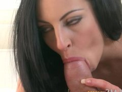 ORGASMS - Fit black haired enjoys orgasms