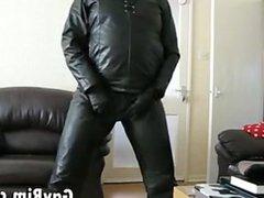 Masturbating In Leather