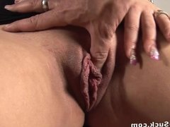 Slow seductive blowjob from pierced chick