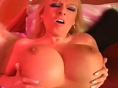Curvy milf shows off her huge tits