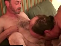Straight guy and mature gay pal do anal