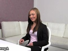 Fucking on casting couch in office