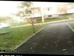 MILF In Heels Walking Home