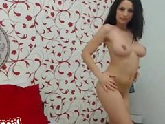 Amateur ex model plays with her dildo