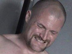 Bald+bearded Steve Trevor squirts