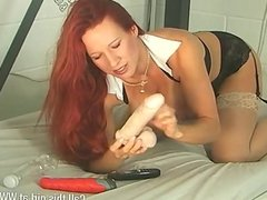 Mature MILF Faye Rampton in jail