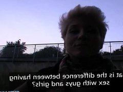 PublicAgent - Blonde lesbian learns how suck