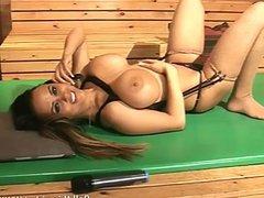 Ruby Summers & Danni Levi in sauna together