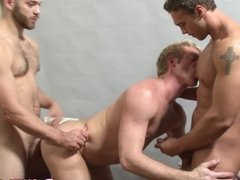 Well built studs getting cocksucked