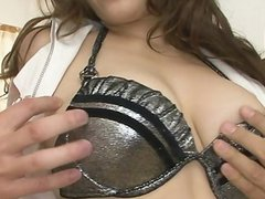 MILF Meisa gets a japanese creampie in a thre