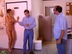 Nude office girl / Голая девочка в офисе