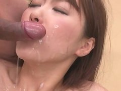 Natsuki is an asian girl giving blowjob