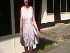 Woman Flashing Outdoors