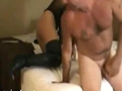 Swinger threesome with my wife Jenny