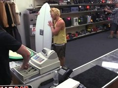 Surfer dude got his ass ripped open for some