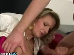 MILF In A Threesome Gets Creampied