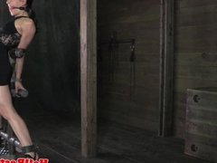 Ball gagged sub gets rough treatment