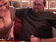 Femdom babes toss him until he cums