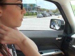 Tight teen Tali Dava nailed in the car