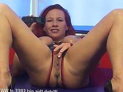 Filthy mature redhead Faye Rampton anal play