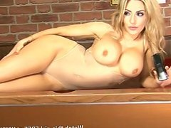 Totally stunning, Ashley Emma on pool table
