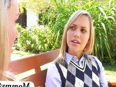 Teen Mia Malkova and MILF Brandi Love 3some
