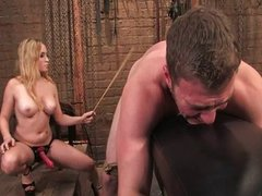 Aiden Starr and Angel Men in pain