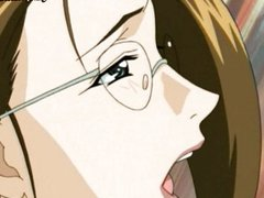 Anime teacher getting anally fucked