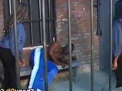 Young Black Girls Punishing A Prisoner