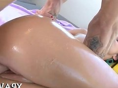 Curvy whore rides on a hard dong