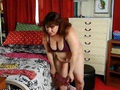 Chubby mature moms with big tits masturbate