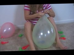 Christy Playing with Balloons