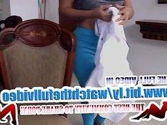 Latina MILF cleans
