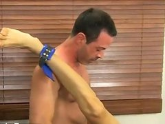 Twinks XXX Mike ties up and blindfolds the