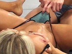 Kim Chambers and Tanya Danielle sexfight