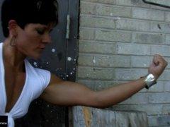 Allison Moyer Jeans Closeup Biceps