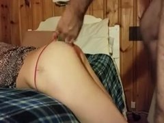Moaning slut wife loves doggy style position