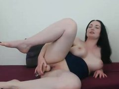 Busty French Canadian Dildo Playtime