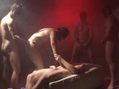Gaysex orgy with kinky gay rituals