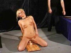 Bizarre toy slut Crystel Leis rough slave sex