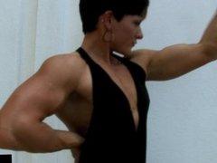 Allison Moyer Black Dress Biceps Pump