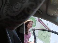 Teen cutie Anita rides the drivers cock