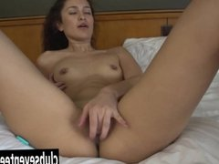 Teen Zarema masturbating pussy