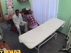 FakeHospital - Patient enjoys nurse massage
