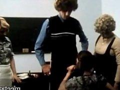 vintage teacher fucks the female class