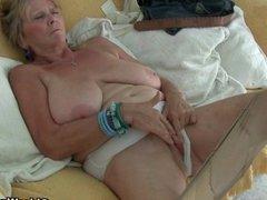 British granny Isabel gives fanny a treat
