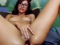 Masturbating in front of webcam 1