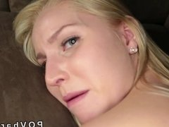 Blonde gets dick into shaved pussy POV