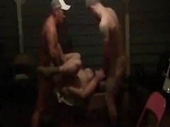Threesome Outside with Neighbor Girl